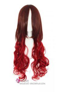 Tóc Giả Nâu Đỏ Xoăn Dài 80cm