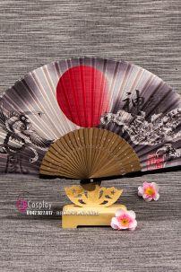 Quạt Vải Xếp Nhật Bản