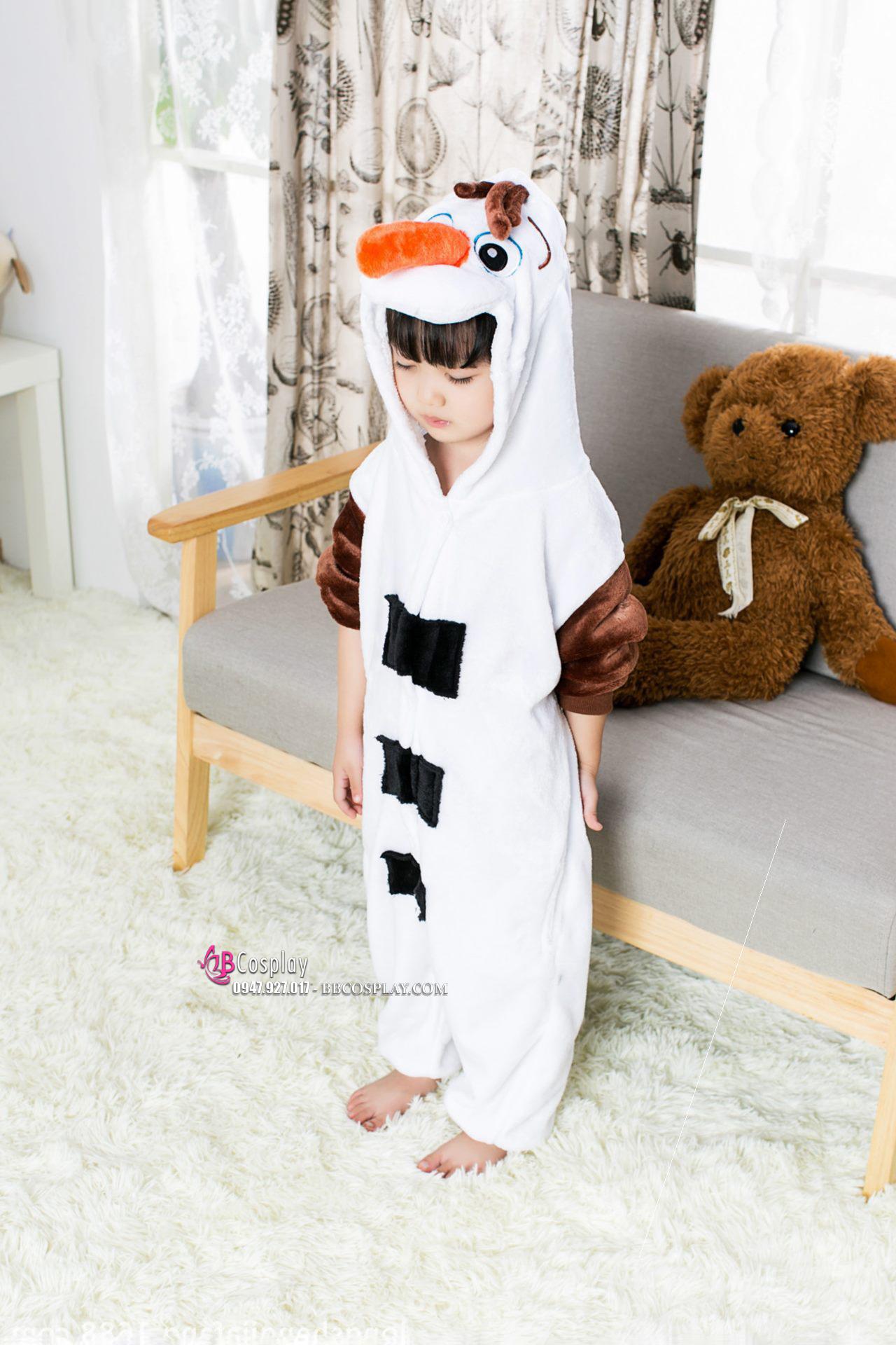 Đồ Người Tuyết OLAF Cho Bé 95-105-115-120-125