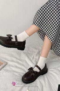 Giày Nữ Sinh Nâu Hạt Dẻ