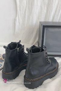 Giày Boot Nữ Châu Âu Cổ Thấp