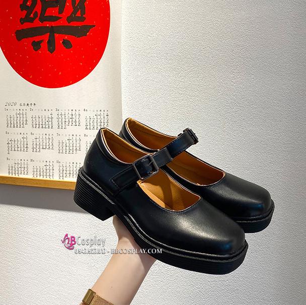 Giày Nữ Sinh Đen Mờ