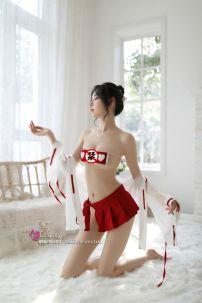 Đồ Nữ Sexy Trắng Voan Váy Đỏ