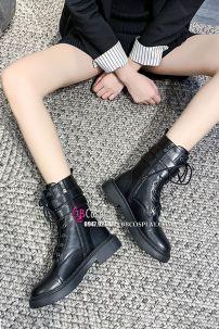 Giày Boot Nữ Cổ Thấp Đế 5cm