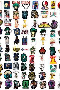 Bộ Sticker Hình My Hero Academia - Bộ 100 Cái