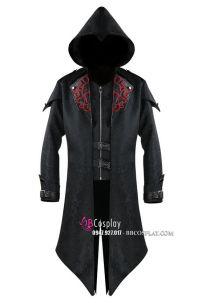 Vest Assassin Đen Có Nón Kèm Khóa Kéo
