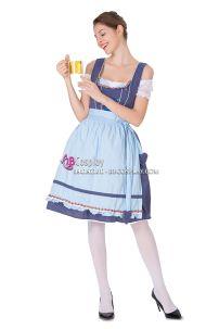 Đầm Nữ Truyền Thống Đức Xanh Pastel