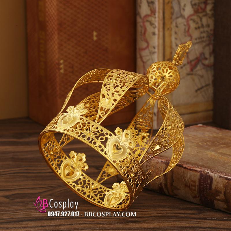Vương Miện Kim Loại Vàng Hình Chóp