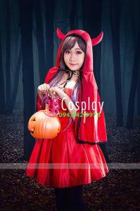 Trang Phục Cô Bé Quàng Khăn Đỏ 1 (Halloween)