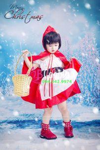 Trang Phục Cô Bé Quàng Khăn Đỏ Trẻ Em 1