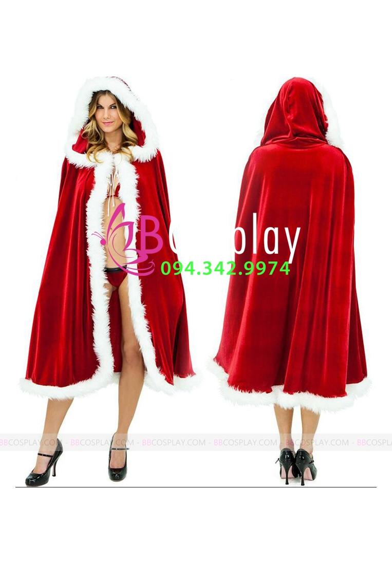Áo Choàng Noel Lông Dầy