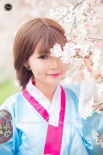 Hanbok 22 Áo Xanh Da Trời Váy Hồng