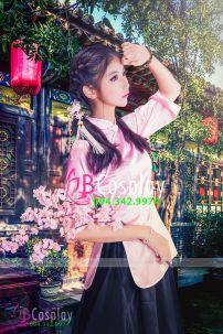 Trang Phục Nữ Sinh Trung Quốc Hồng Phấn
