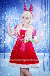 Đầm Noel Lolita Eo Thắt Nơ