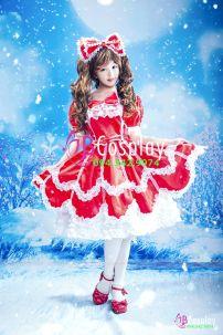 Trang Phục Lolita Đỏ Chất Lượng May Tại VN