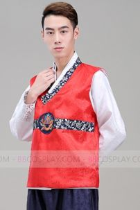 Hanbok Nam 5 (Gấm Đỏ)