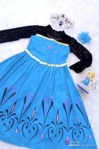 Đầm Elsa Frozen Bé Gái Tặng Kèm Choàng Nhung