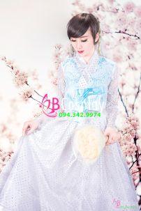 Hanbok Cô Dâu Hàn Quốc Trắng Tinh Khôi