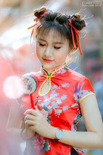 Qiloli Đỏ Váy Đen 32
