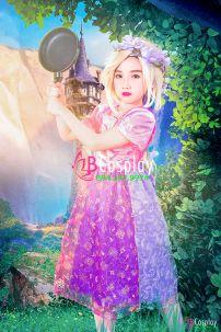 Trang Phục Rapunzel Trẻ Em 3 (Công Chúa Tóc Dài)