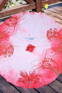 Ô Cổ Trang Hoa Bỉ Ngạn Đỏ Nền Hồng