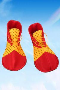 Giày Chú Hề Vàng Chấm Bi Mũi Đỏ
