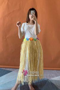 Váy Hawai Vàng Nâu Nhạt