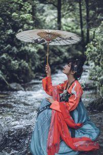 Hán Phục Hạc Đỉnh Hồng + In Nhủ