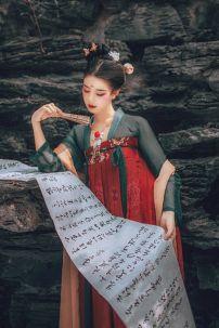 Hán Phục Chẩm Miên - Thêu Và In Nhủ
