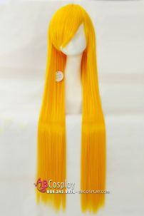 Tóc Giả Vàng Thẳng Mái Xéo 60cm