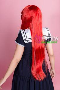 Tóc Giả Đỏ Cam 60cm