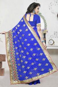 Sari Đồ Ấn Độ - Trang Phục Ấn Độ Xanh