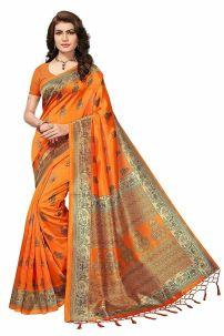 Saree Đồ Ấn Độ Cam Cà Rốt- Trang Phục Ấn Độ Cam Cà Rốt