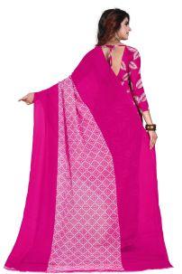 Saree Đồ Ấn Hồng - Trang Phục Ấn Độ Hồng