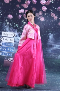 Hanbok Giá Rẻ Áo Hồng Váy Hồng