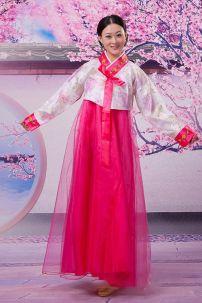 Hanbok Hồng 2 Lớp Giá Rẻ