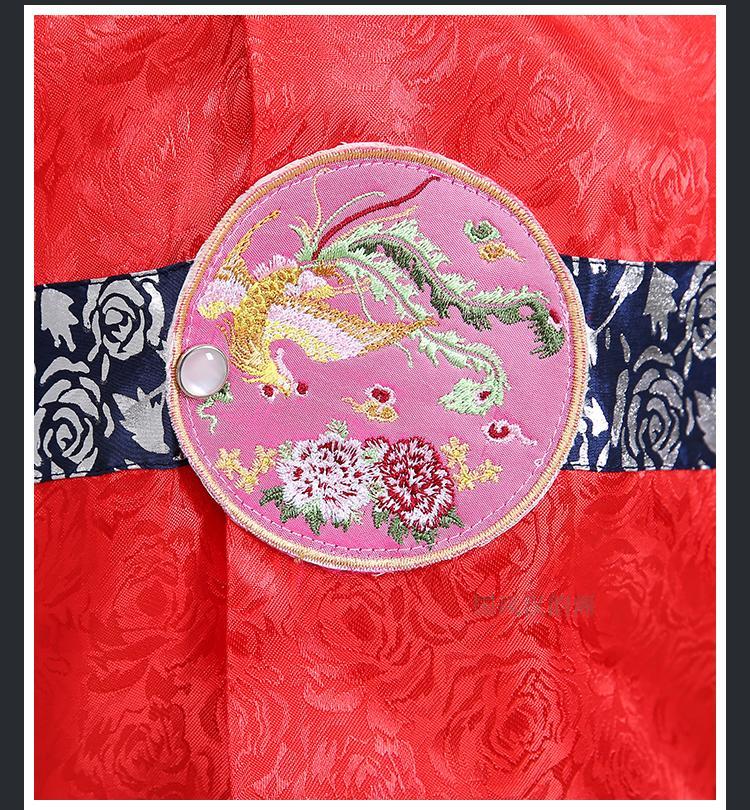 Hanbok Bé Trai Áo Đỏ Quần Xanh - Tặng Nón