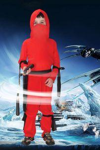 Đồ Hóa Trang Ninja Đỏ Cho Bé Trai