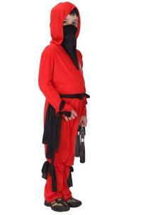 Đồ Hóa Trang Ninja Đỏ Cho Bé Trai 9829