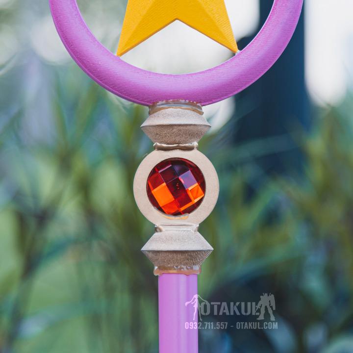 Gậy Sakura Phép Thuật Hình Ngôi Sao Có Thể Tháo Rời 3 Đoạn