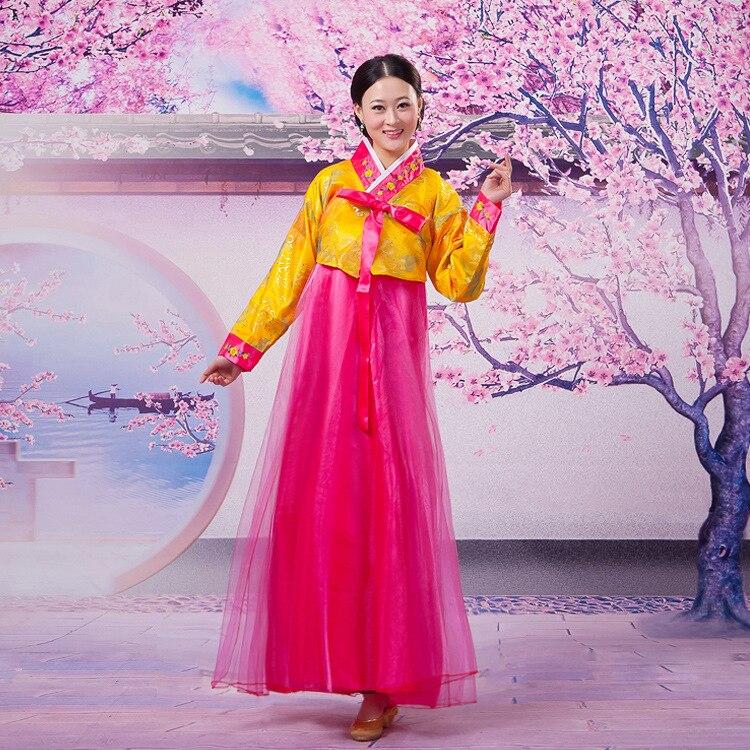 Hanbok Giá Rẻ Áo Vàng Váy Hồng