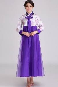 Hanbok Giá Rẻ Áo Trắng Váy Tím