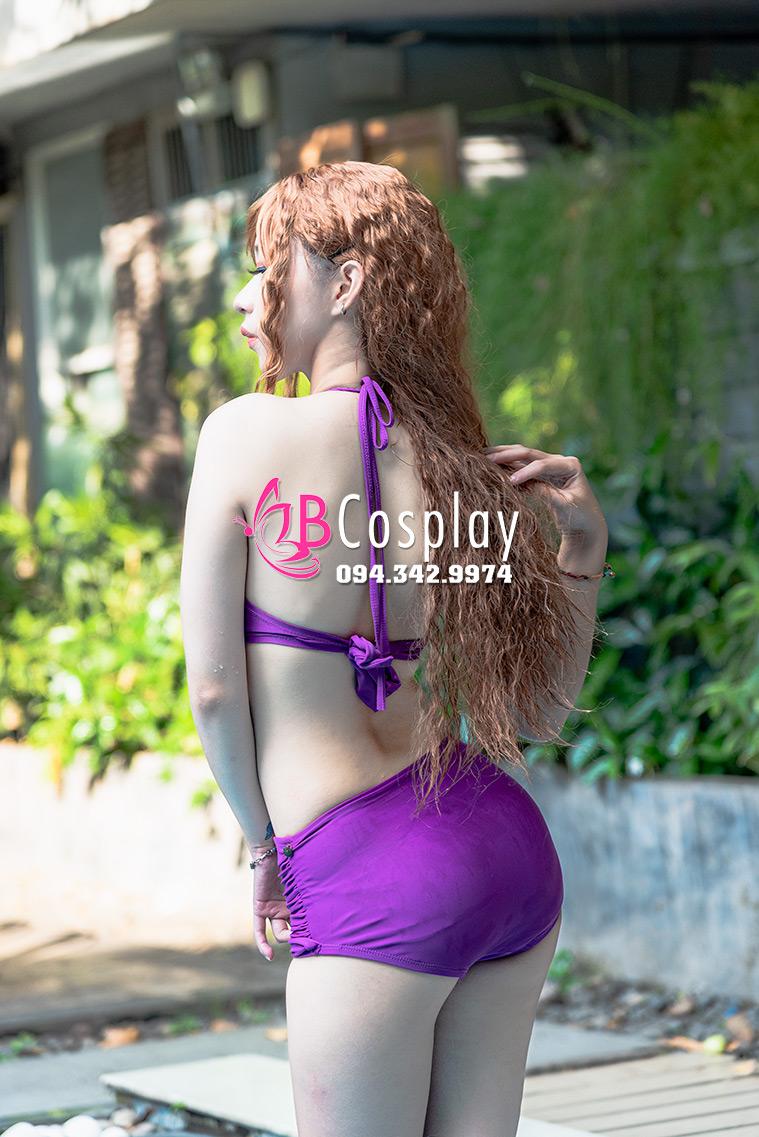 Đồ Bơi Bikini Tím Hoa Đậu Thơm